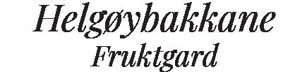 Helgøybakkane Fruktgard